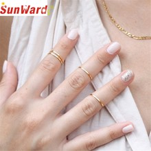 Ring jewelery Gussy Life wholesale Fashion Anel 5PCS/Set Rings Gold Stack Plain Cute Above Knuckle Ring Anillo Dropshipping(China)