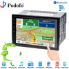 Podofo 2 Din Car Radio Player 7 LCD GPS Navigation Touch Screen Bluetooth Multimedia Car Audio