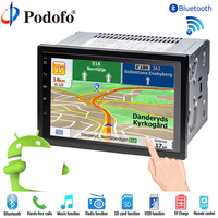 Podofo 2 Din car radio Player 7 LCD GPS Navigation Touch Screen Bluetooth Multimedia Car Audio Android Media Player For Nissan