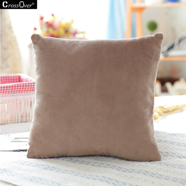 Hot Sale Mink Wool Plush Cushion Cover 40CM 45CM 50CM 3 Sizes Square  Decorative Pillow Covers For Car Sofa Cushion And Throws