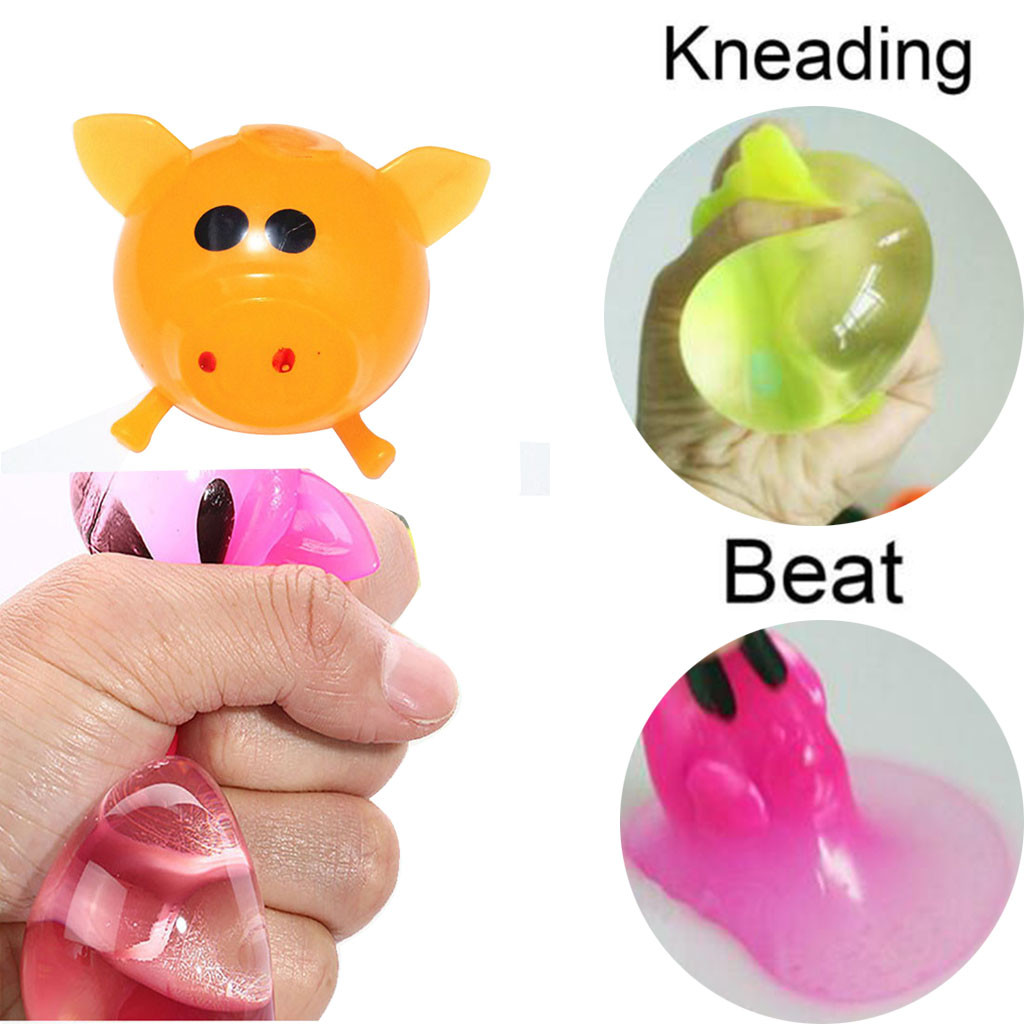 CLEAR WITH LIGHT SPLAT MESH BALL SQUEEZE SQUISHY TOYS STRESS RELIEF SOFT STICKY