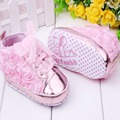 2 Colors Beautiful baby Infant Toddler Baby Girl Rose Flower Non-Spli Lace-up Crib Princess Shoes 0-18 Months