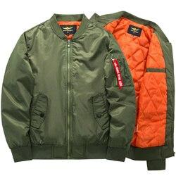 2019 de alta calidad Ma1 grueso y delgado ejército verde militar motocicleta Ma-1 aviador piloto chaqueta bomber para hombre