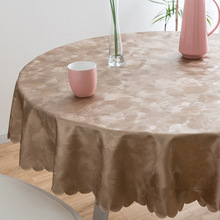 European tablecloth, waterproof, anti-scalding, oil-proof, disposable round PU hotel tablecloth