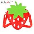 New 2017 Strawberry Pattern Children Bag For Little Girls School Bag Children One Shoulder Cartoon Strawberry Messenger Bag