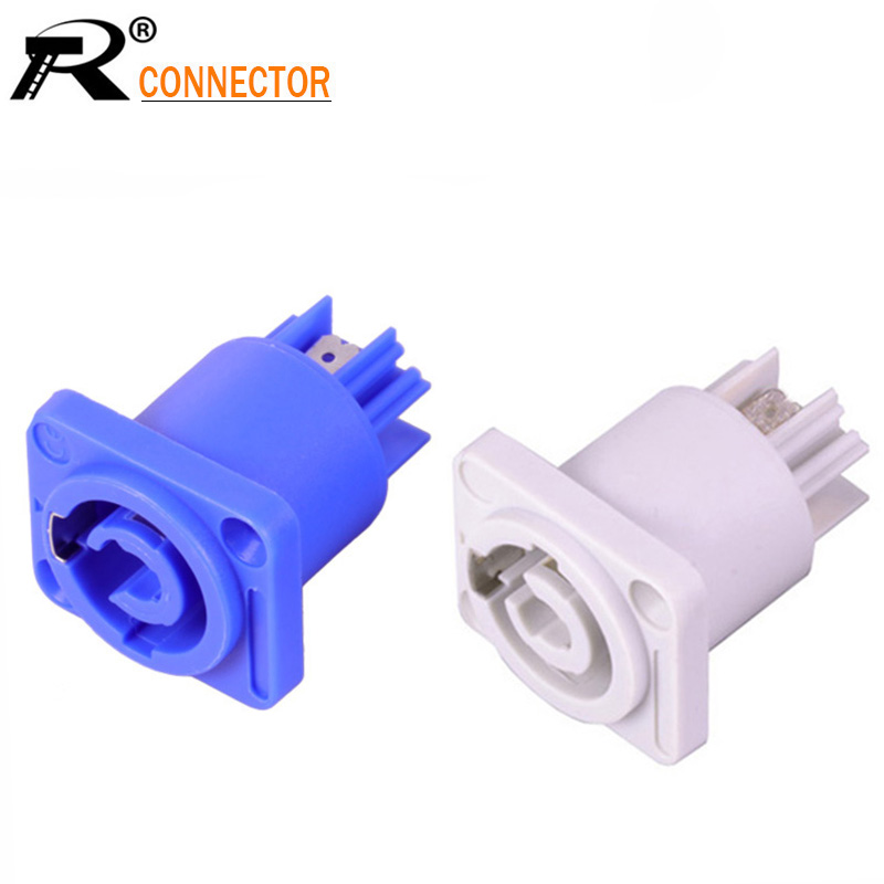 10pcs/lot 3 Pin Powerconnector Female Jack Panel Mount NAC3MPA NAC3MPB AC Power Chassis For Stage Light LED Connector 20A/250V