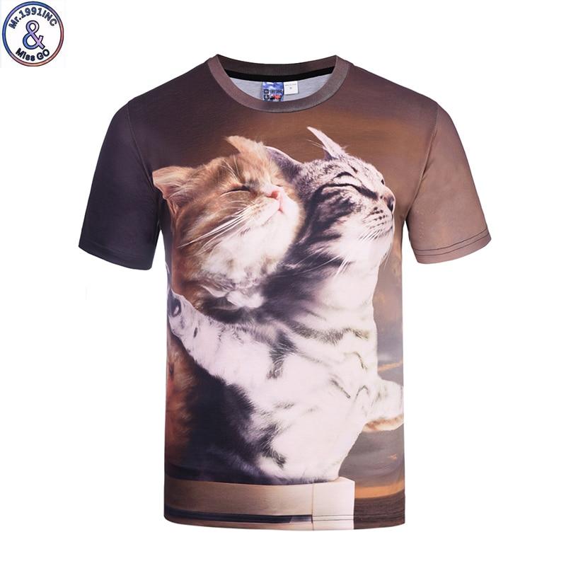 Mr.1991 newest children t-shirt Titanic Cats 3D printed boys or girls teens t shirt good quality funny tees big kids cloth A43