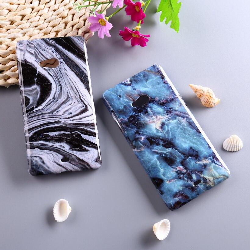 Piedra de mármol cajas del teléfono de plástico para microsoft nokia lumia 540 n