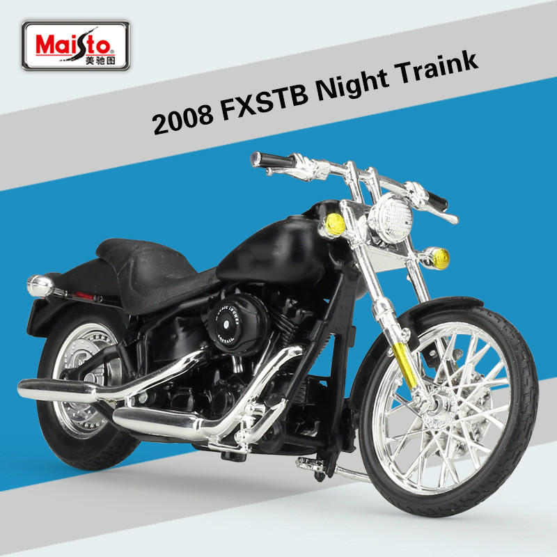 Maisto 1:18 for Harley FXSTB Night Traink 2008 Motorcycle Simulation Alloy Model for Harley Offroad Racing Motorbike Model Toys