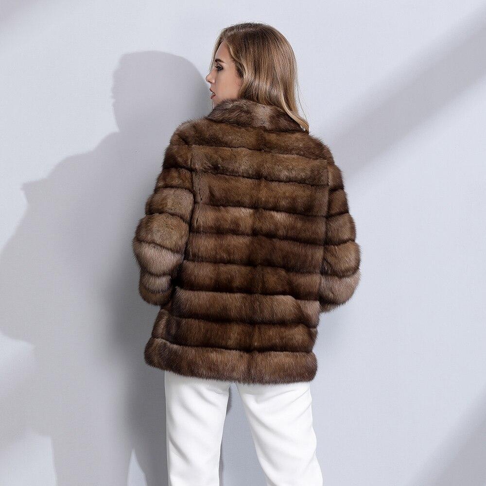 Femmes Sable Femelle Luxe End Fourrure Qualité Mode De Naturelle Veste Manteau Russie Npi High 71218c Top Élégante D'hiver 6vYf7ybg