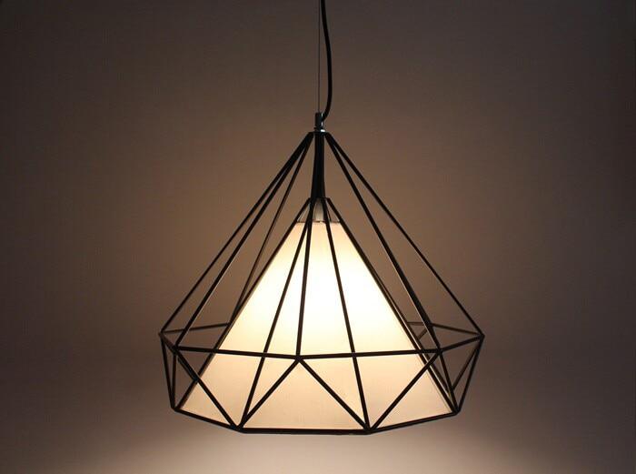 ФОТО Black Iron Diamond industrial creative instrument pendant lights vintage lamp bar foyer pendant lamps Nordic retro