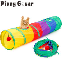Cat Foldable Tunnel Drill Barrel Colorful Cat Tent Drill Barrel Pet Toys(China)