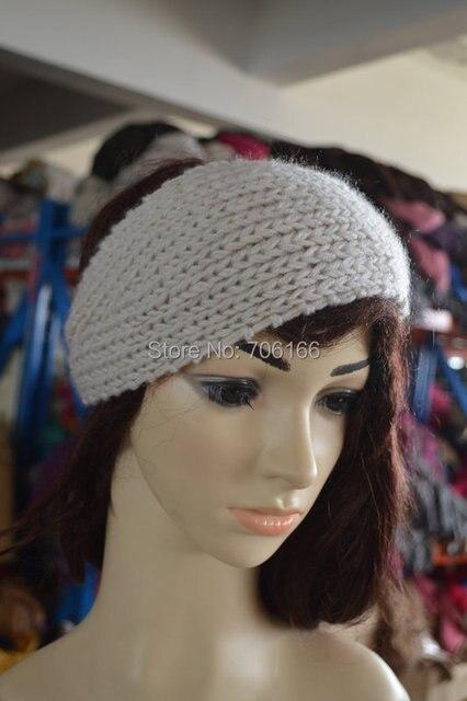 Handgemaakte Breien Vrouwen Winter Haarband Haak Bandana Plain
