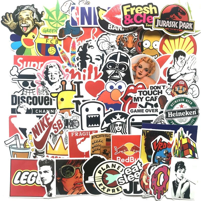 Aufkleber Das Beste 100 Pcs Cartoon Graffiti Stil Aufkleber Für Auto Fahrrad Motorrad Telefon Laptop Reise Gepäck Coole Lustige Aufkleber Bombe Jdm Decals Sammeln & Seltenes