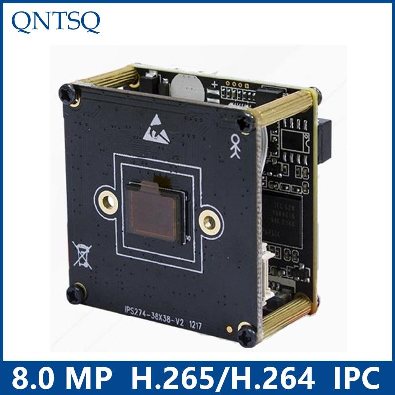 Caméra IP 8.0 MP, IMX274 + HI3519V101 Module de caméra IP CMOS, carte de circuit imprimé IP DWDR + ONVIF