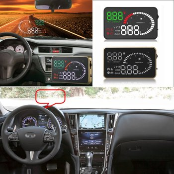 Car HUD Head Up Display For Infiniti G35/G37/Q50/FX35/QX35/QX60 Car Head-up Display Digital Virsual Display Projector HUD