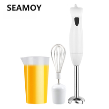 Seamoy Hand Blender 4 in 1 Portable immersion Blender for Kitchen Food Processor stick with Chopper Whisk Electric Juicer Mixer