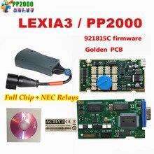 5pcs/lot DHL Free Lexia-3 PP2000 V7.76 OBD2 Diagnostic Interface Lexia3 V48 For Cit–roen PP2000 V25 For Peu–geot New Diagbox