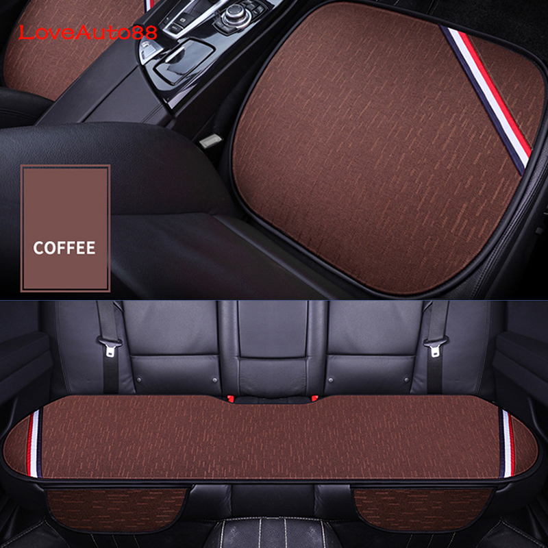 Image 4 - 3pcs Universal Car Seat Cover Front Rear Seats Breathable Protector Mat Pad Auto Accessories  Four Seasons Accessories-in Automobiles Seat Covers from Automobiles & Motorcycles