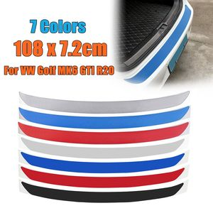 1Pc Carbon Fiber Rear Bumper Protector Sticker Trim 7 Colors For VW Golf MK6 GTI R20 Car-Styling Sticker And Decals 108x7.2cm(China)