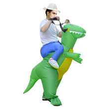 Inflatable Dinosaur Costume Adult Kids Funny Blow Up Suit Party Fancy Dress Unisex Costume Halloween Costume Animal Cosplay