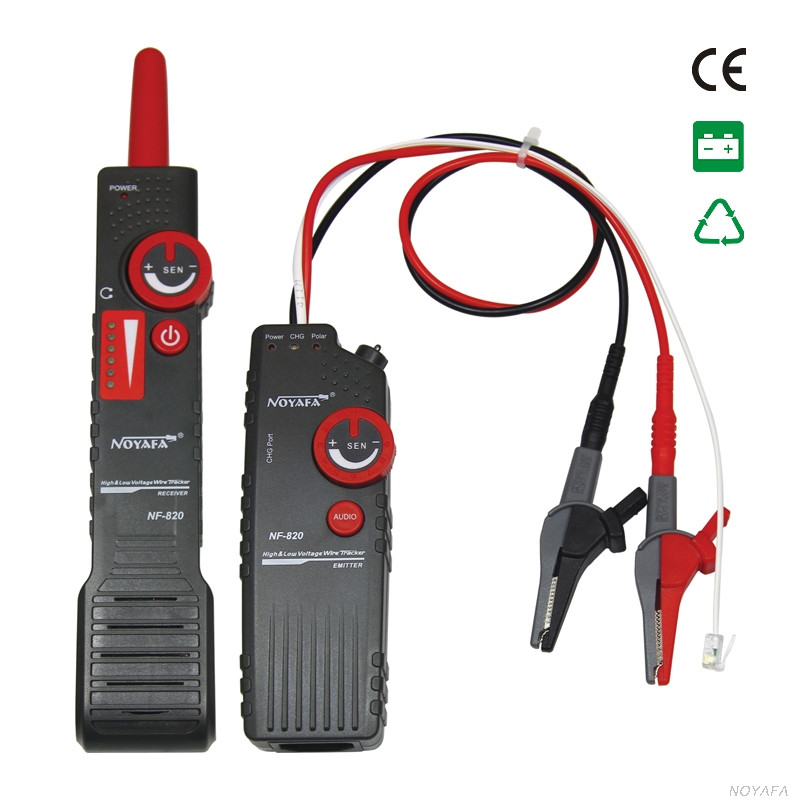 NF-820 RJ45 RJ11 BNC Tester High & Low Voltage Cable tester Underground Cable Finder Anti-Interference Wire TrackerNF-820 RJ45 RJ11 BNC Tester High & Low Voltage Cable tester Underground Cable Finder Anti-Interference Wire Tracker