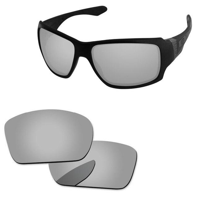 6b6abc5c6c36d Policarbonato-Chrome Espelho de Prata Lentes de Reposição Para Big Taco  Óculos de Sol Quadro