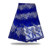 5yards French Lace Embroidered Tulle Lace Material Latest Nigerian African Lace Fabric For Party Dress FC17