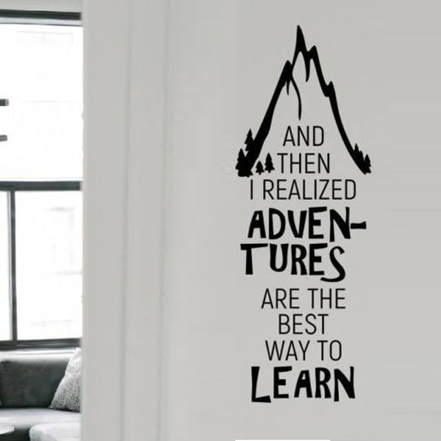 and then i realized adventures removable wall stickers for
