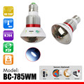785WM Bulb Lamp IP Wifi Camera  Micro SD CCTV Surveillance Camera with 5 Watt White Light Output  Wireless Alarm Sensors