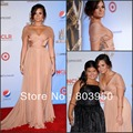 New Sweetheart Pleated Cap Sleeve Cross Ruched Bodice Chiffon A Line Formal Evening Gown Demi Lovato Red Carpet Celebrity Dress