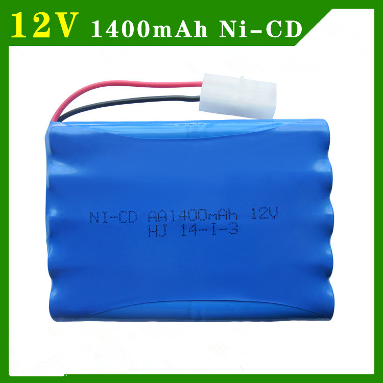 Cncool 12v 1400mah ni-cd 12v aa nicd batteries aa battery pack ni cd rechargeable for RC boat model car electric toys tank