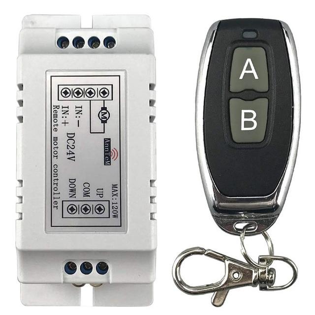 Drahtlose fernbedienung schalter 433 mhz rf sender empfänger 18 v zu 24 v motor Vorwärts + Umge Stopp lenkung controller modul