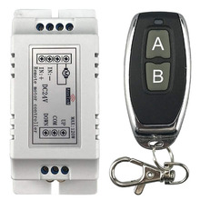 wireless remote control switch 433mhz rf transmitter receiver 18v to 24v motor Forward + Reverse Stop steering Controller module