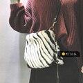 2016 Autumn Winter New Women Plush Leopard Shoulder Bags Europe Style Fashion Classic Lady Clutch Zebra Cross-body For Girls