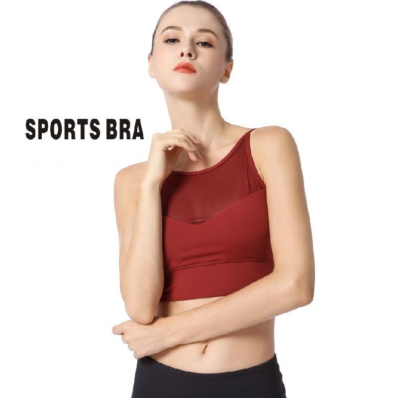 Red Gym Running Sports Womens Crop Tank Top Yoga Tops Workout Crop Top Bra Yoga Mesh Sports Bra Top Fitness цена 2017