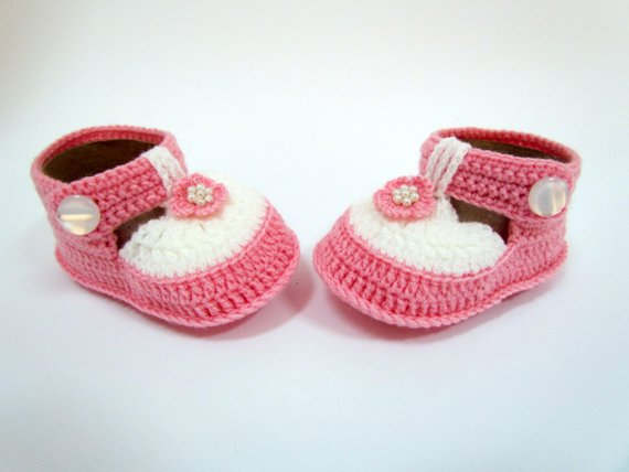 Crochet Shoes, Booties Newborn Boots, Baby L Gift