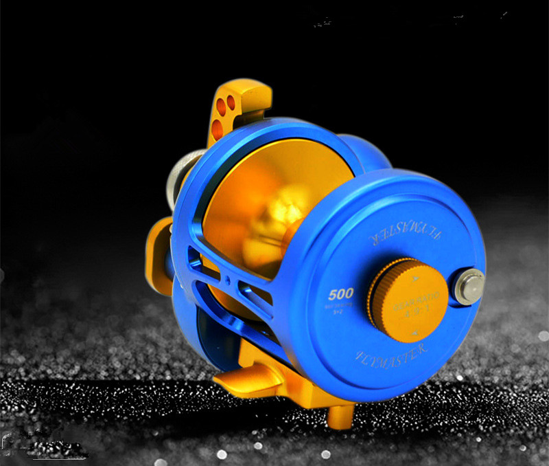 Image 2 - New products TM200 500 CNC All metal Sea fishing Drum wheel 11BB Heavyweight Boat fishing iron plate Slow shake Fishing reel-in Fishing Reels from Sports & Entertainment