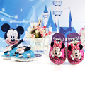 2017 children garden shoes hot sale summer boy girls baby cartoon mickey minnie sandals kids antiskid indoor slippers mini shoes