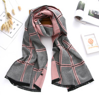 2017 Luxury Brand Winter Scarf Cashmere Scarves For Women Shawls And Wraps Plaid Thick Warm Soft