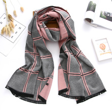 2020luxury brand winter scarf cashmere scarves for women shawls and wraps plaid thick warm soft oversized blanket echarpe femme