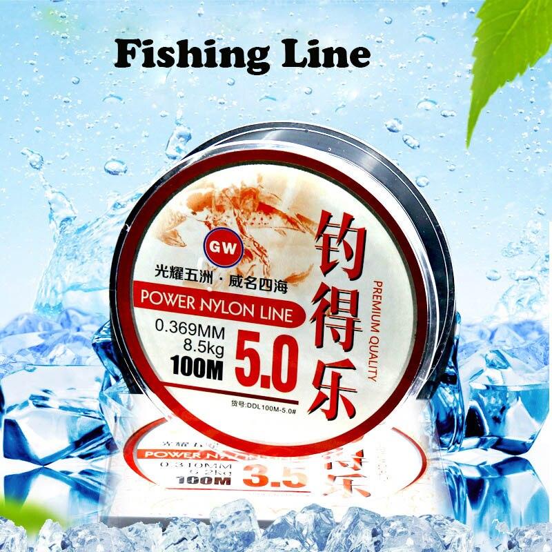 US $5 02 14% OFF|100m Nylon Fishing Lines PE Braided Fishing Line six types  of Fishing Line Thread Bulk Spool-in Fishing Lines from Sports &