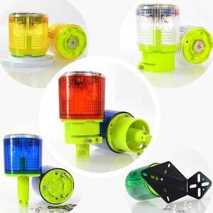Lámpara de alarma Solar controlada ópticamente sin interruptor, a prueba de lluvia, señal de seguridad, baliza, lámpara de alarma de tráfico de emergencia