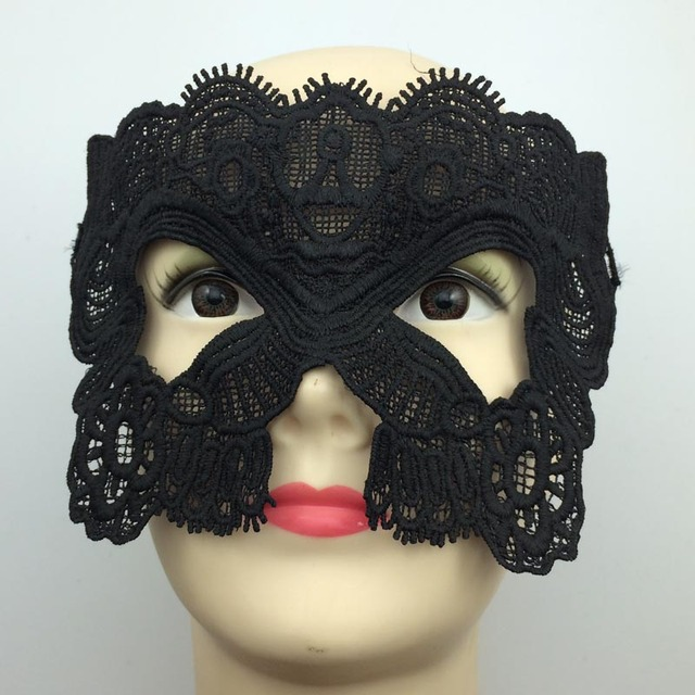 new lace catwoman mask sexy black halloween party mask nightclub bar eye mask