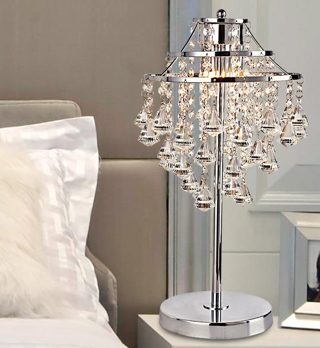 Кристалл сочетание Настольные лампы прикроватная лампа для теплой спальне гостиная украшения свадебные лампа Настольные лампы ZA SJ40