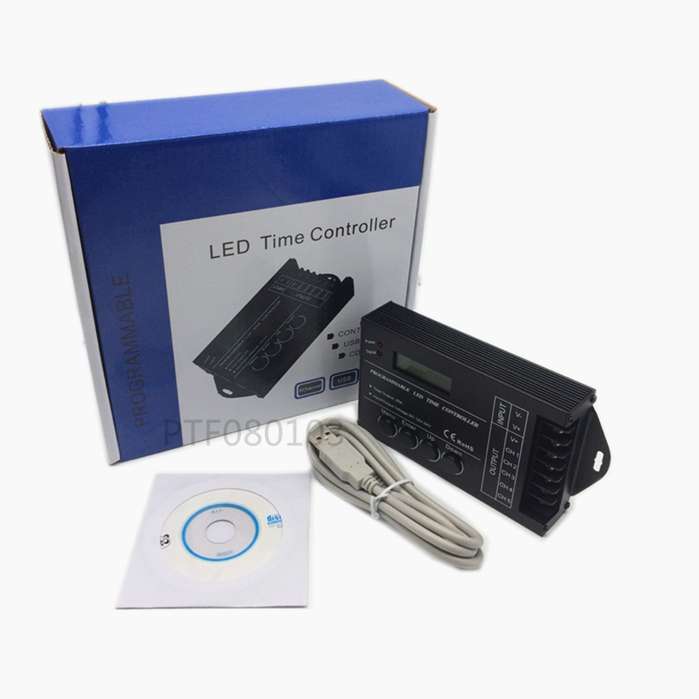 TC421 WiFi time programmable led controller tc421 dimmer rgb aquarium lighting timer, DC12~24V input, 5 channels,max 5*4A