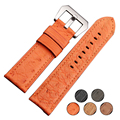 Vintage Genuine Ostrich Skin Top Quality Leather Watchband  For High-end Watch  24mm
