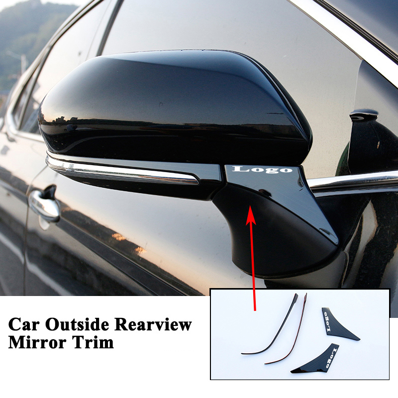4pcs/set Car Outside Rearview Rear View Mirror Trim Decoration Cover Sequin Sticker Car Accessories For Toyota Camry 2018 2019