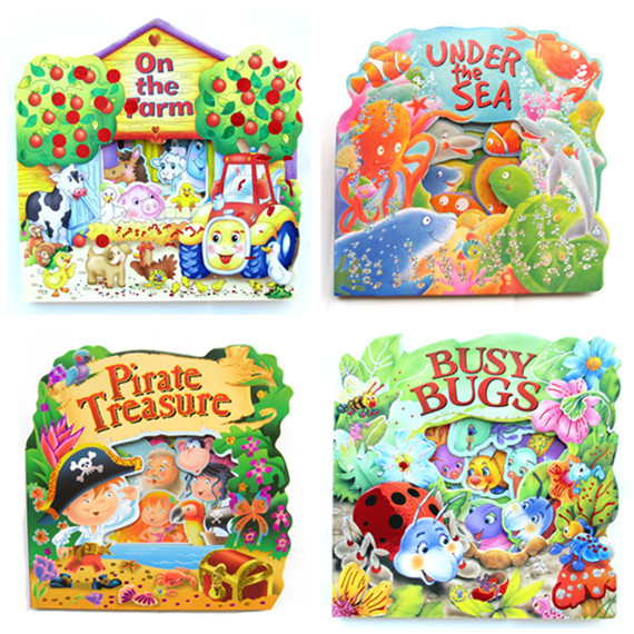 English Hollow Cardboard Child Storybook Tunnel Book Name On The ...