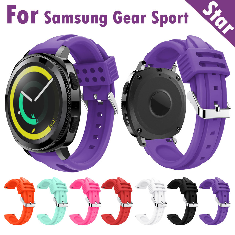 Silicone watch band Fashion Sports Soft Silicone Replacement Wristband Wrist Strap For Samsung Gear Sport #1212 large small size sport silicone replacement watch wrist strap bands for samsung gear fit 2 r360 watch band conjoined watch band